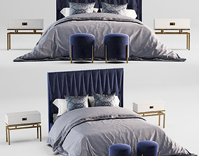 tufted bed 3D