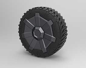 3D model Wheel from Tesla Cyberpunk truck