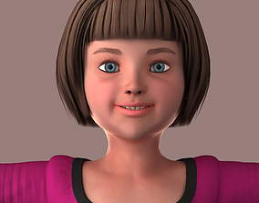 3D model Realistic Little Girl - Rigged