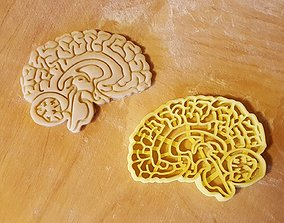 3D printable model Brain cookie cutter