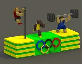 Olympics Voxel Scene 3D asset
