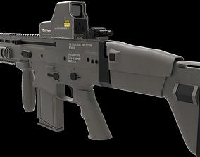 3D fn scar assault rifle