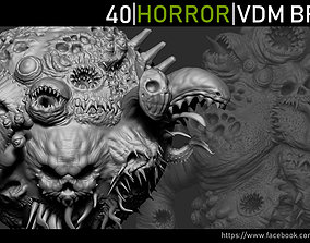 Zbrush - Horror VDM Brush 3D asset