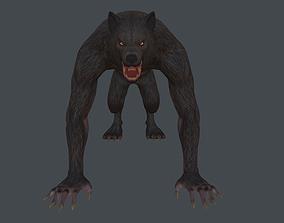 3D model Werewolf low poly