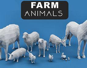 3D asset Farm Animals