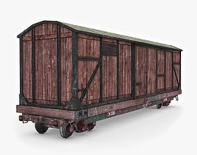 Wooden Box Car 3D model