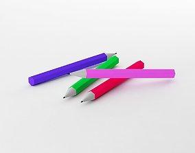 low-poly Pencil fabulous 3d model