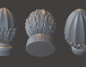 WoodCarving Finial - 3d model for CNC - FinialCFC06