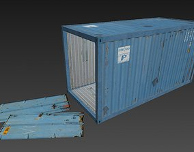 3D model Low Poly Container