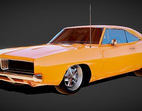 Dodge Charger 1969 Muscle Car 3D Model VR / AR ready
