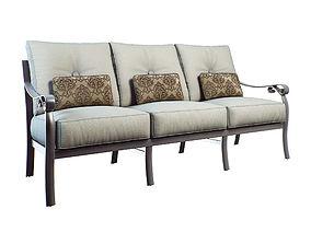 3D model bellanova cushioned sofa