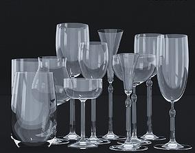 Glassware Set 2 - 11 models 3D