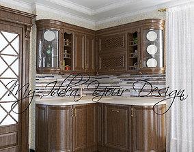 Kitchen Wood Classical 3D asset