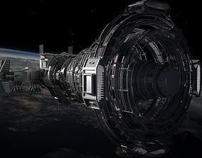 2050 Space Station 3D model