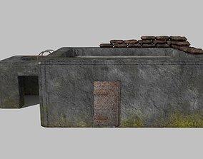 WW II bunker 3D model