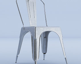 3D Raw Metal Side Chair
