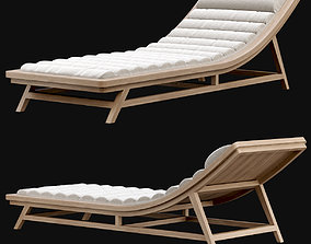 Wooden outdoor chaise lounge L15 3D