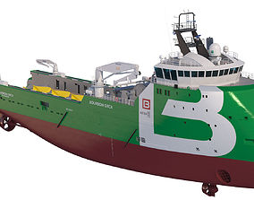 3D Anchor Handling Tug Supply Vessel BOURBON ORCA