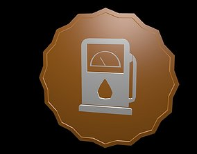 3D Low poly symbol petrol
