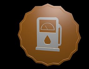 Low poly symbol petrol 3D model