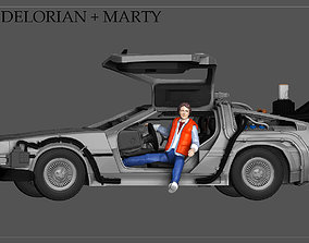 MARTY MCFLY DELORIAN BACK TO THE FUTURE 3D print model 1