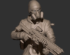 Soldier Darkzone agent STL 3D print model