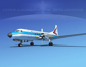 Convair CV-580 Gulf Coast Avaition 3D model
