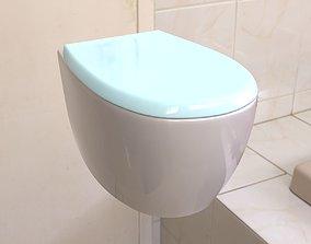 Toilet 3D model sink