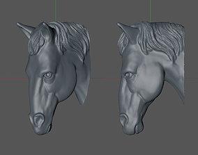 3d horse head 3D print model