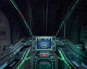 game-ready 3DRT - Sci-Fi Spaceship Cockpit 6