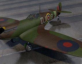 3D Supermarine Spitfire Mk-1A