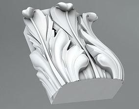 3D model Pilaster Capitals wall