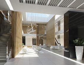 3D asset Lobby Hall Foyer Office
