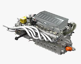 3D model Ferrari 312p V12 Engine - 3 liter