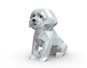 3D print model Maltese dog low poly