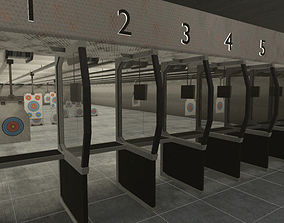 Shooting Range - basement 2 user 3D asset
