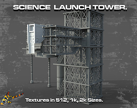 3D asset SCIENCE LAUNCH TOWER