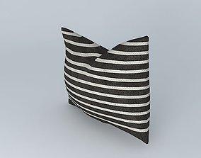 3D model Thin Horizontal Stripe Pillow