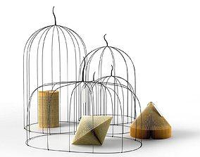 Paper Wire Composition 3D model composition