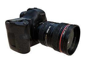 DSLR Camera 3D model low-poly