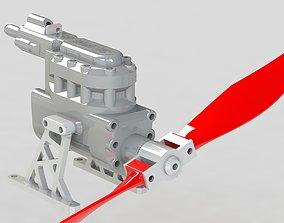 mechanical GT V2 Compressed Air Engine working model