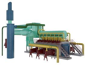 Gas transfer pump 3D asset game-ready