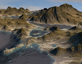 3D Terrain river