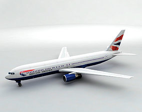 Boeing 767-300 Airliner - British Airways 3D asset