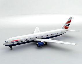 Boeing 767-300 Airliner - British Airways 3D asset