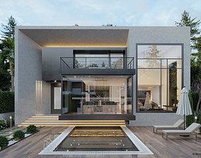 3D Villa Exterior 03