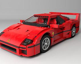 3D Lego Creator Ferrari F40