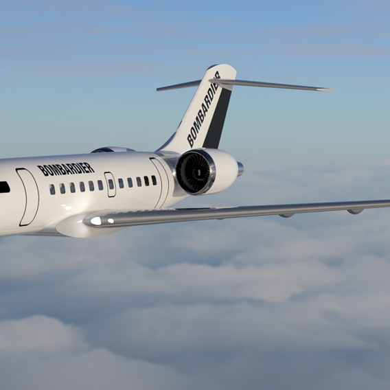 Bombardier Global 5000 aircraft with interiors