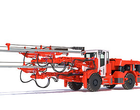 Three-Boom Jumbo Drill Rig DD530 3D model