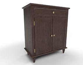3D asset house room cabinet